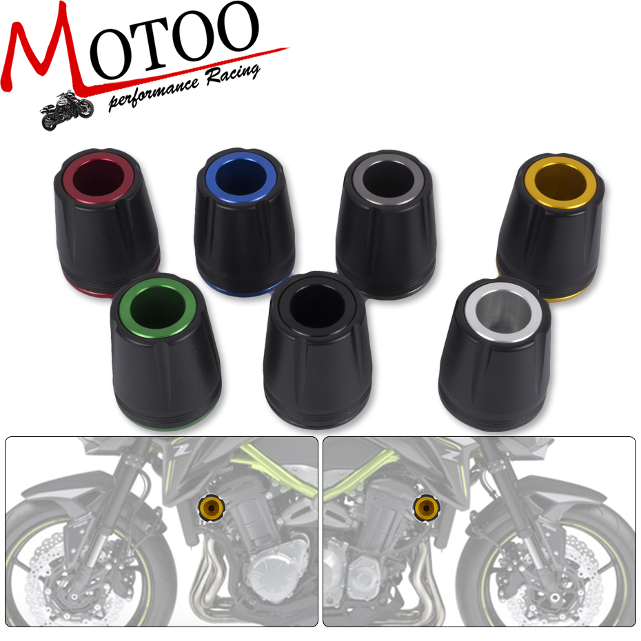 Motoo -CNC motorcycle for kawasaki z900 z 900 2017 Frame Sliders Crash Pads Falling Protector motorbike accessories parts
