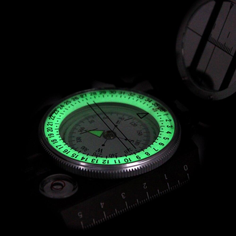 Berkemah Di Luar Ruangan Bersepeda Survival Mini Kompas Profesional Bidik Penunjuk Arah Mata Angin Lensatic Compass Lensatik Militer Eyeskey Kelangsungan Hidup Mendaki Peralatan Geologi Compact Scale