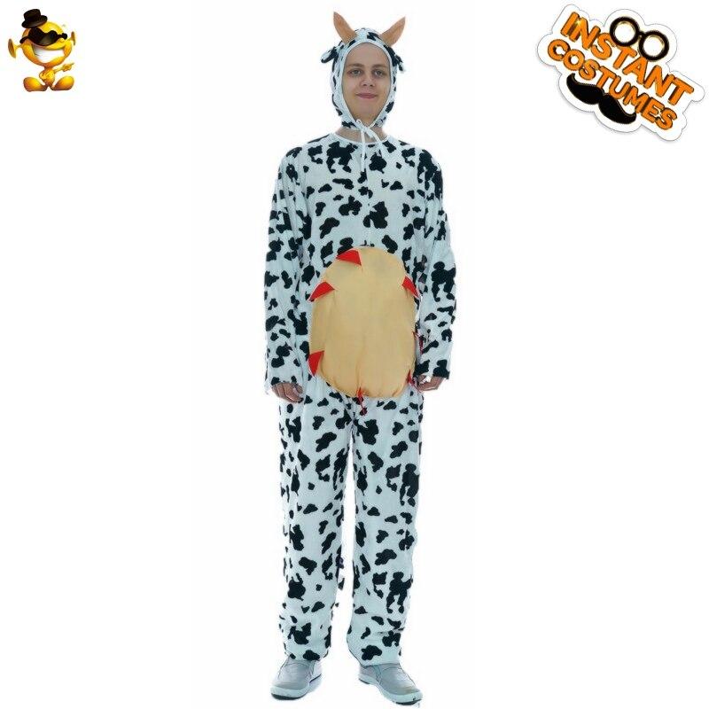 Забавные пижамы с изображением коровы, нарядное платье, корова, ролевые костюмы, Новое поступление, корова, комбинезон для карнавала, вечери