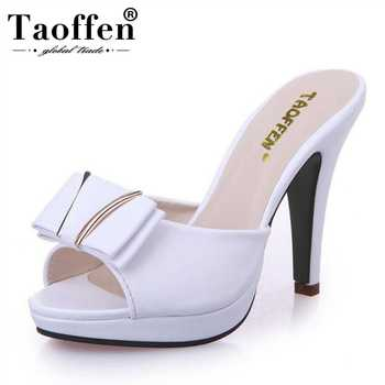 TAOFFEN Women High Heel Sandals Open Toe Shoes Fashion Slippers Bowtie Platform Shoes Women Daily Leisure Footwear Size 34-39 - DISCOUNT ITEM  49% OFF All Category