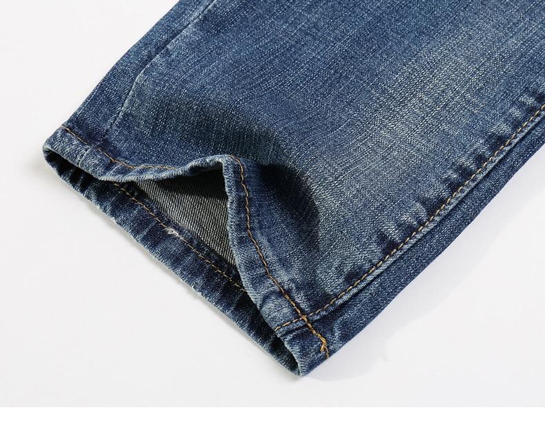 KSTUN Fashion Jeans for Men Slim Straight Blue Stretch Distressed Men's Clothes Trousers Yong Man Casual Pants Cowboys Jean Hombre 38 18