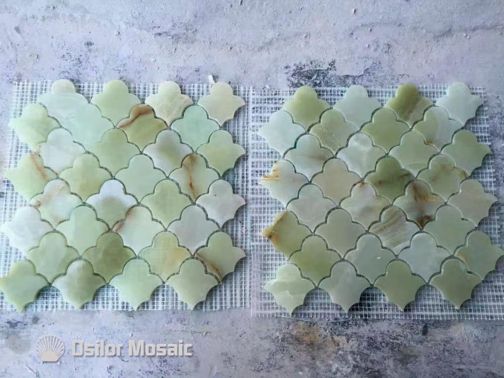 color natural de piedra azulejos de mosaico de mrmol jade azulejo de mosaico para la decoracin
