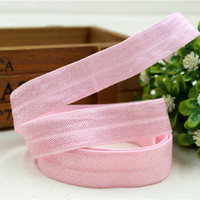 159288 , 5/8'' 16mm hair accessories handmade DIY,Pure Fold Over Elastic FOE 1yds/roll free shipping
