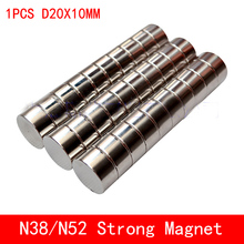 1pcs Super Strong Rare Earth Disc 20mm x 10mm Permanet Magnet Round N38 N52 Neodymium Magnet 20*10MM surface plate nickel