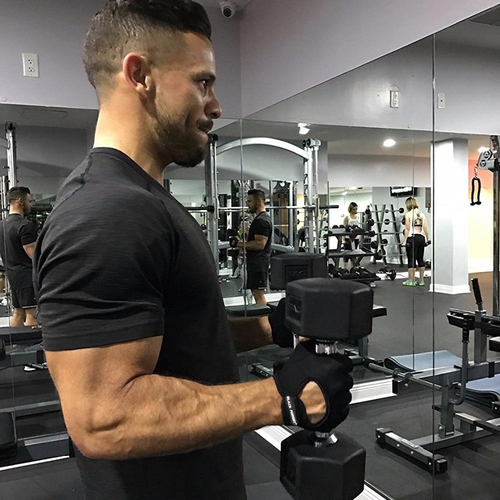 Bodybuilding Weightlifting Excise Sport Gloves Gym Breathable Anti Slip Gym Fingerless Glove Sports Fitness Glove for Women Men strength training