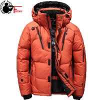 Windbreaker White Duck Thick Down Winter Jacket Men Hat Warm Coat Snow Anorak Parkas Male Hooded Zip Up 2019 Jacket Outerwear