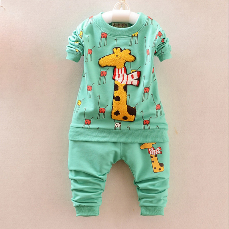 2016 New Spring Autumn baby girls boys Clothing Sets chilren Brand casual Suits Long Sleeve Shirt+pants set for kids wear