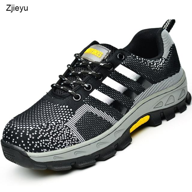 2018 bezpieczeństwa buty męskie buty letnie bot ze stali toe i podeszwa odporne na przebicie, lekkie, oddychające na co dzień buty robocze buty ochronne