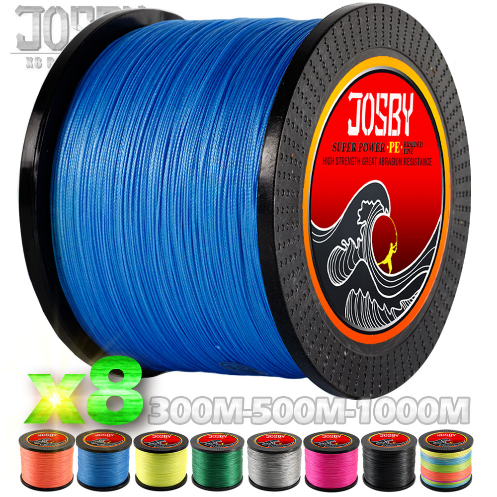 цена на JOSBY 300M 500M 1000M 8 Strands PE Braided Fishing Wire Multifilament Super Strong Fishing Line Japan Multicolour 2018 New