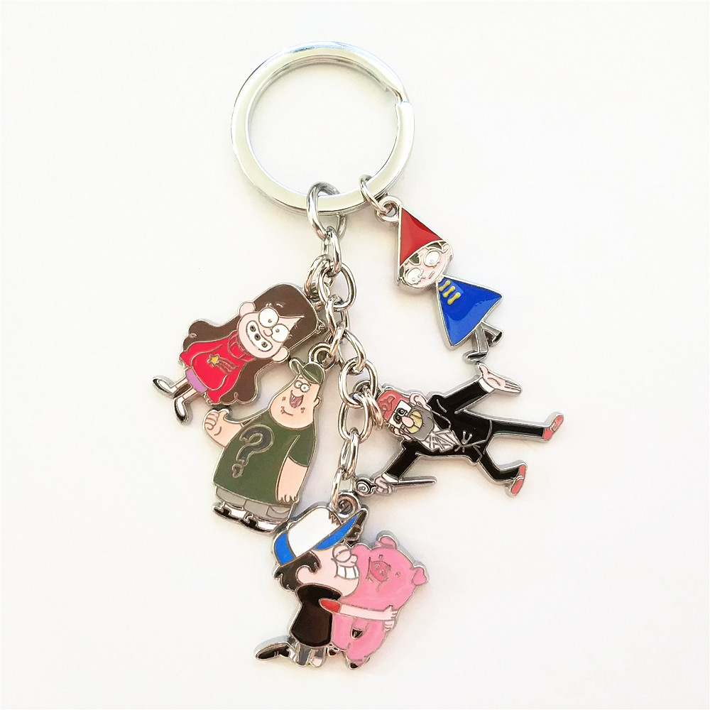 Hot Cartoon Gravity Falls Figure Waddles Metal Keychain Keyring Cosplay Costume Accessory Pendants Collection Cool Gift
