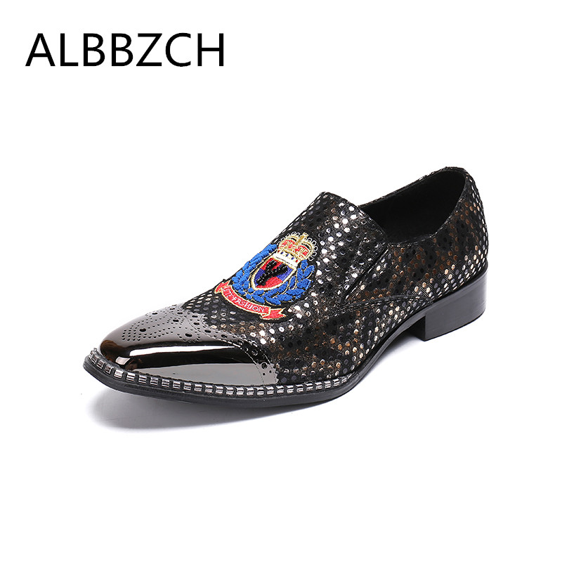 Spring summer new mens fashion embroidered luxury brand deisgner printing leather casual shoes men loafers leisure party shoesSpring summer new mens fashion embroidered luxury brand deisgner printing leather casual shoes men loafers leisure party shoes
