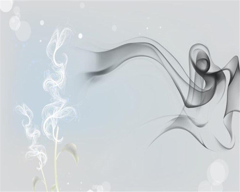 US $8 85 OFF Beibehang Foto Wallpaper Fashion Abstrak Transparan Bunga Kepribadian Asap 3D Ruang Tamu Kamar TV Latar Belakang Wallpaper