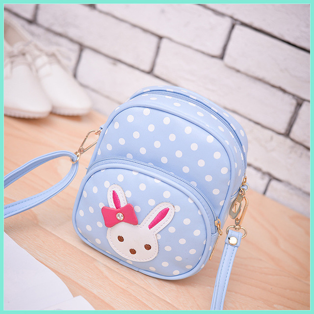 c45fdaeded0b5 ... kindergarten baby mädchen. PU Leather Polka Dot Children School Bags  Cartoon Mini Messenger Bag Kids Small Pouch Bolsa Feminina