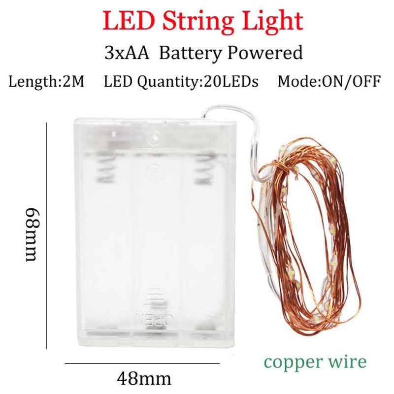 LED سلسلة أضواء 10 متر 5 متر 2 متر الفضة سلك جارلاند المنزل عيد الميلاد حفل زفاف الديكور مدعوم من 5 فولت بطارية USB الجنية ضوء