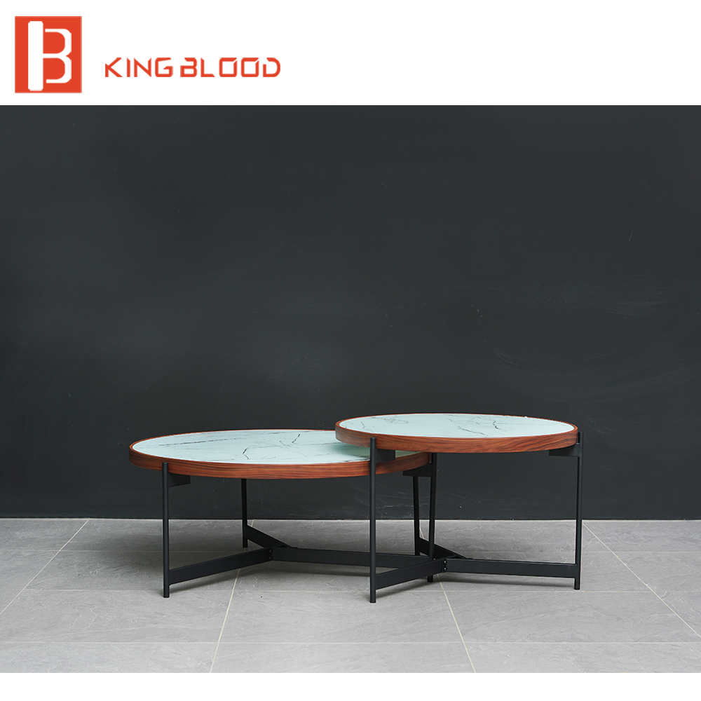 Meubles salon moderne table basse en verre