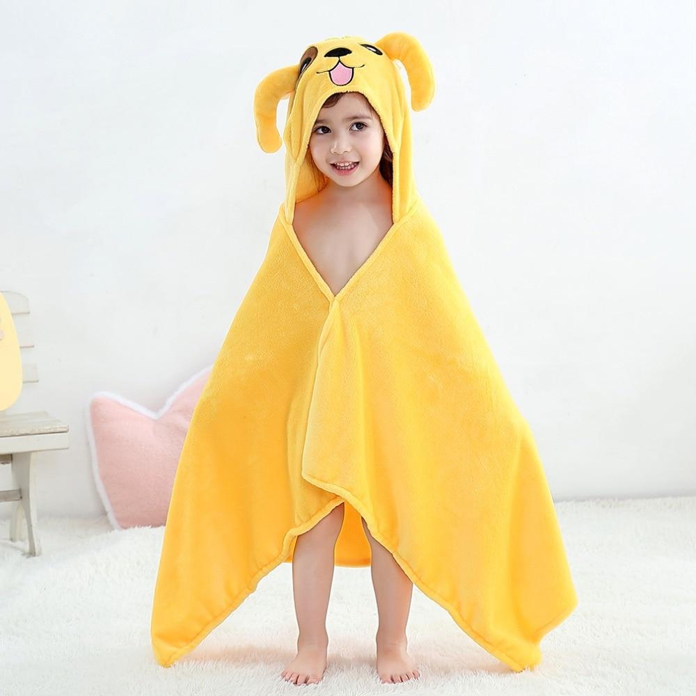 Baby Animal Cartoon Hooded Towel Beach Bath Robes Soft Children Poncho Towels Bathing Suit Towel For Boys Girls Kids Bathrobe 13