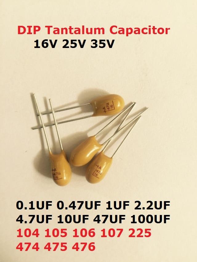 10 PCS 10UF//35V DIP-2 Tantalum capacitor 106//35V 35V10uF