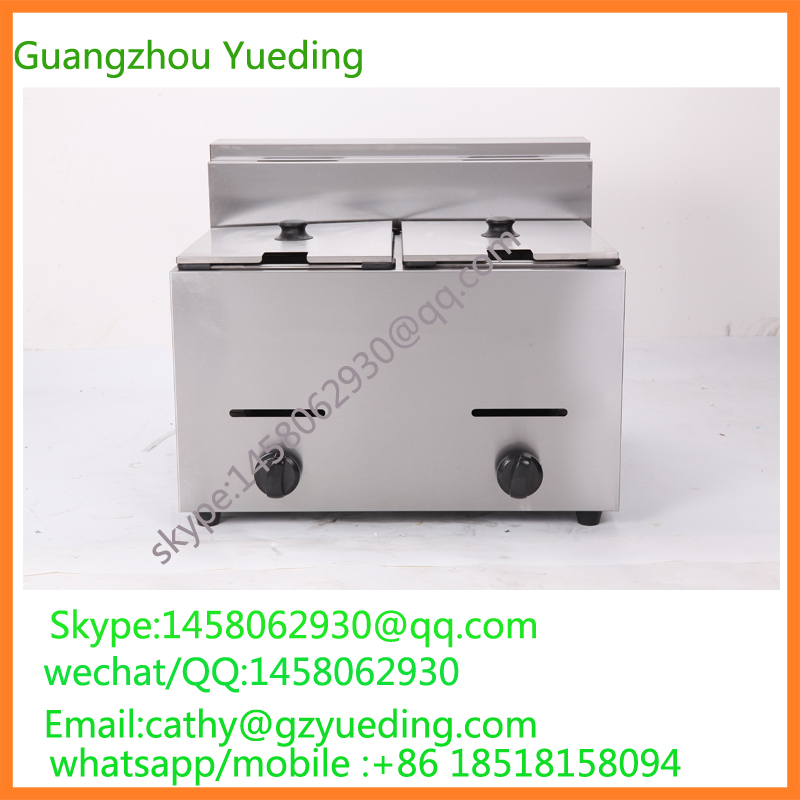 Stainless Steel potato chicp chicken gas Deep Fryer potato chips fryer/lpg gas deep fryer/table top deep fryer цена