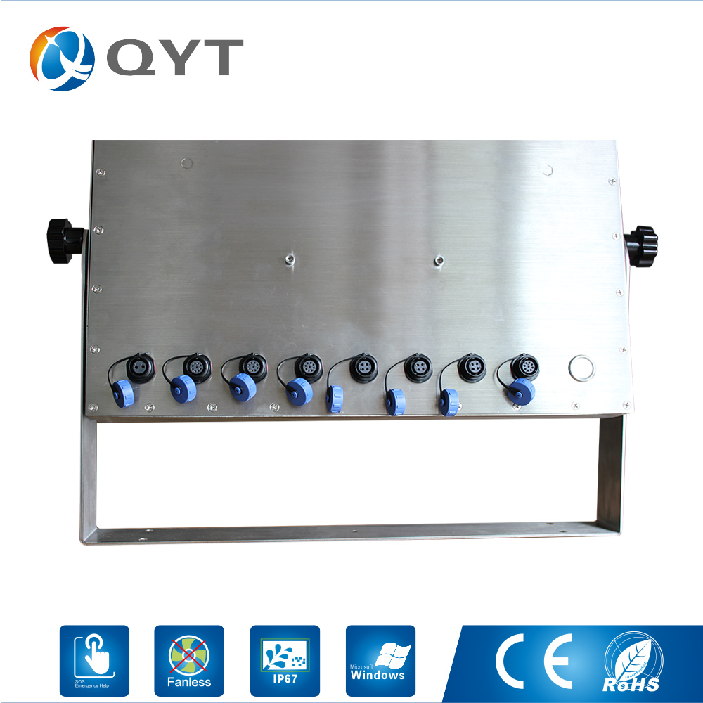 Stainless steel Customize bracket waterproof comuputer 15 inch Intel j1900 2.0G all in one pc IP66 IP67 fully sealed design