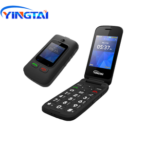 Image 3 - オリジナル YINGTAI T22 3 グラム MTK6276 GPRS MMS 大プッシュボタンシニア電話デュアル Sim デュアルスクリーンフリップ携帯電話高齢者のための 2.4 インチ