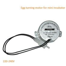 цена на 2016 Mini incubator motor 220-240v  Turn the eggs motor 48/96 Egg Incubator Hand-made incubator equipment