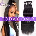 Fair Price Alipearl Hair 4 Bundles Straight Brazilian Hair Lace Frontal Closure With Bundles Pre Plucked Frontal With Bundles
