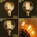 220 V Lâmpada Incandescente G80 G95 G125 Edison Lâmpada Do Vintage Retro Lâmpada 40 W lampada edison lâmpadas Para E27 Pingente de DIY lâmpada