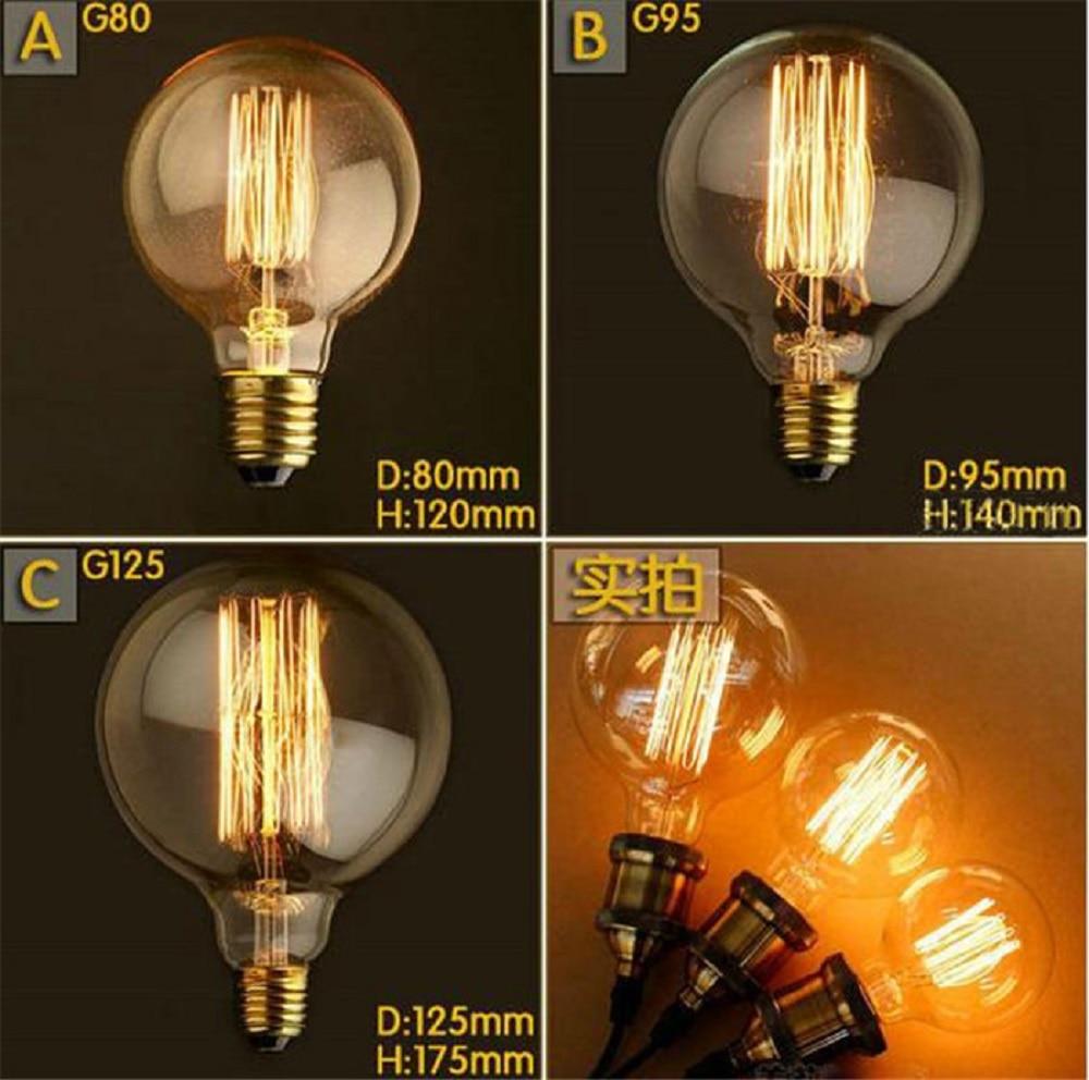 Buy G80 Led Filament E27 40w Bulb Online: Aliexpress.com : Buy 220V G80 G95 G125 Incandescent Light