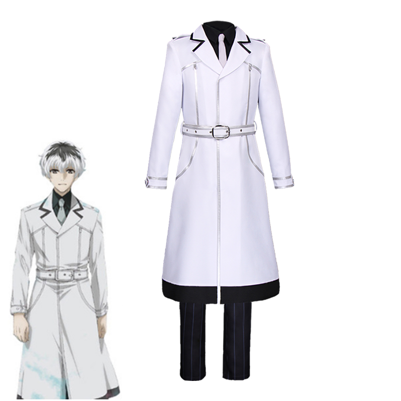 2018 New Japanese Anime Tokyo Ghoul Sasaki Haise Cosplay Costume Kaneki Ken Deluxe Suit Halloween Carnival Uniforms Custom Made new japanese anime tokyo ghoul kaneki ken cosplay mask halloween prop zipper mask