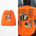 hip-hop fashion The I Life Of Pablo west T shirt Men Summer Brand Clothing T-Shirt I feel like Pablo Orange Tee