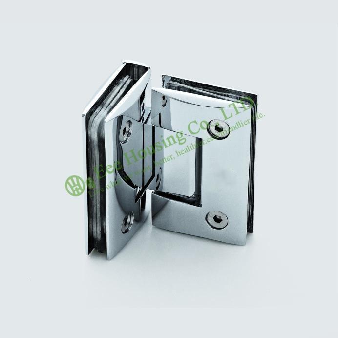 Нержавеющая сталь 90 градусов душевой дверной шарнир, стекло к стеклу 90 градусов Ванная стеклянная дверная петля, зеркальный готовый стекля