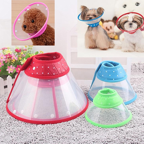 Puppy Pet Dog Cat Comfy Cone Neck Collar Anti-Bite Medical Recovery Protection ...