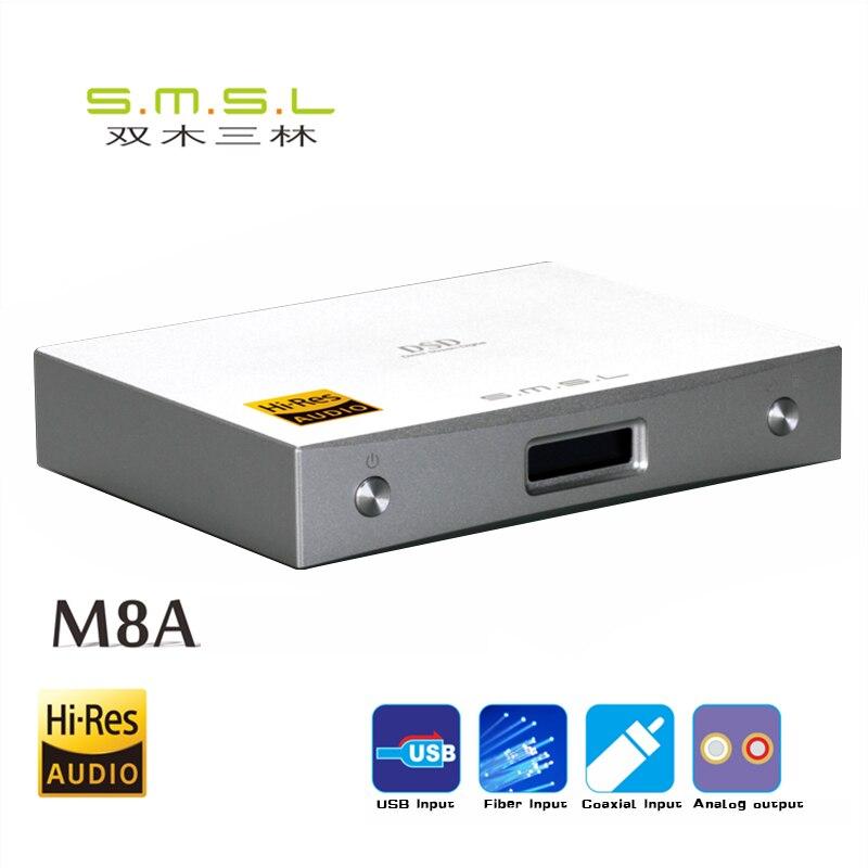 SMSL M8A DAC DSD512 / 768kHz HIFI Decodificador de audio Amplificador - Audio y video portátil