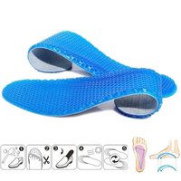 VG22 HL01 05 High Quality Gel Insoles Silicone Insoles Massaging Sport Shoe Pads Orthotic Arch Sport Shoe Foot Care Pad