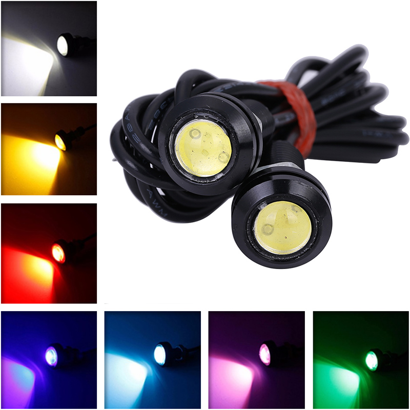 2pcs 3W 18mm Eagle Eye LED Daytime Running Lights Parking Lamp led DRL Waterproof fog Light Super Bright 2pcs led car fog lamp super bright 1000lm waterproof drl eagle eye light external lights daytime running lights