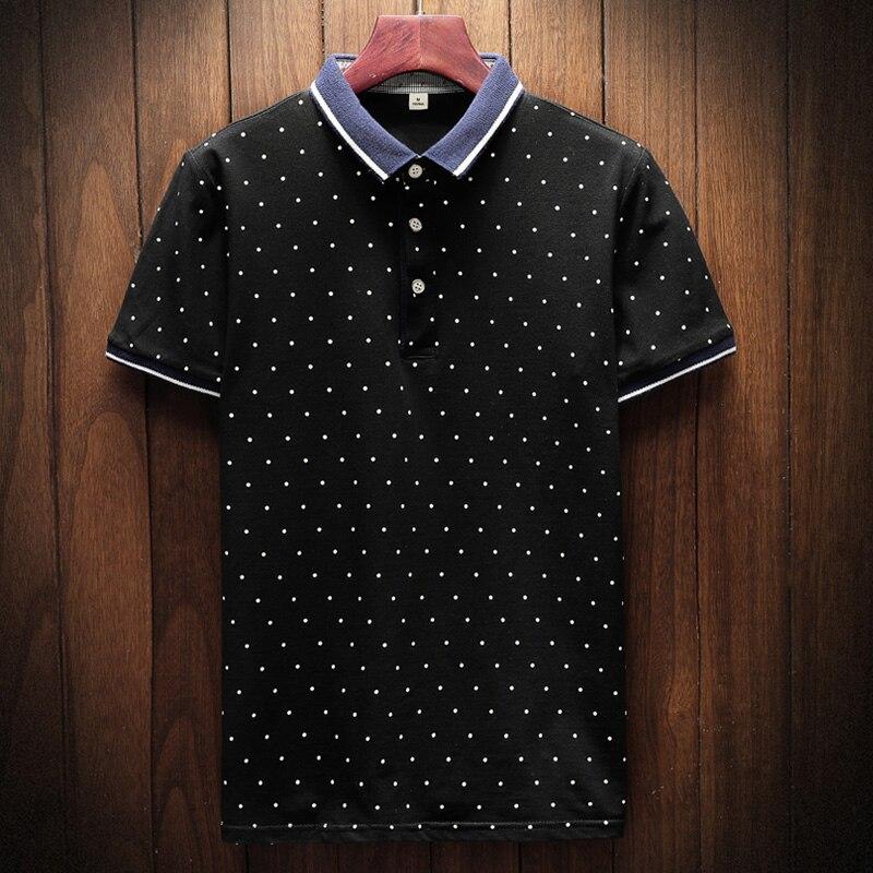 2018 New Brand Polos Mens Printed POLO Shirts Cotton Short Sleeve Camisas Polo Casual Stand Collar Male Polo Shirt 1
