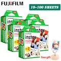 Белая пленка Fujifilm Instax Mini 9, 3 дюйма, 10, 20, 30, 40, 50, 60, 100 листов для мгновенной фотокамеры Polaroid FUJI Mini 9, 8, 7s, 70, 90