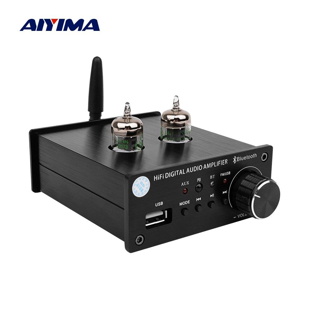 AIYIMA Tube Amplifier Preamp Board Bluetooth 4.2 5654 Tube Preamplifier Tone Volume Control Treble Bass Adjust For MP3 DecoderAIYIMA Tube Amplifier Preamp Board Bluetooth 4.2 5654 Tube Preamplifier Tone Volume Control Treble Bass Adjust For MP3 Decoder