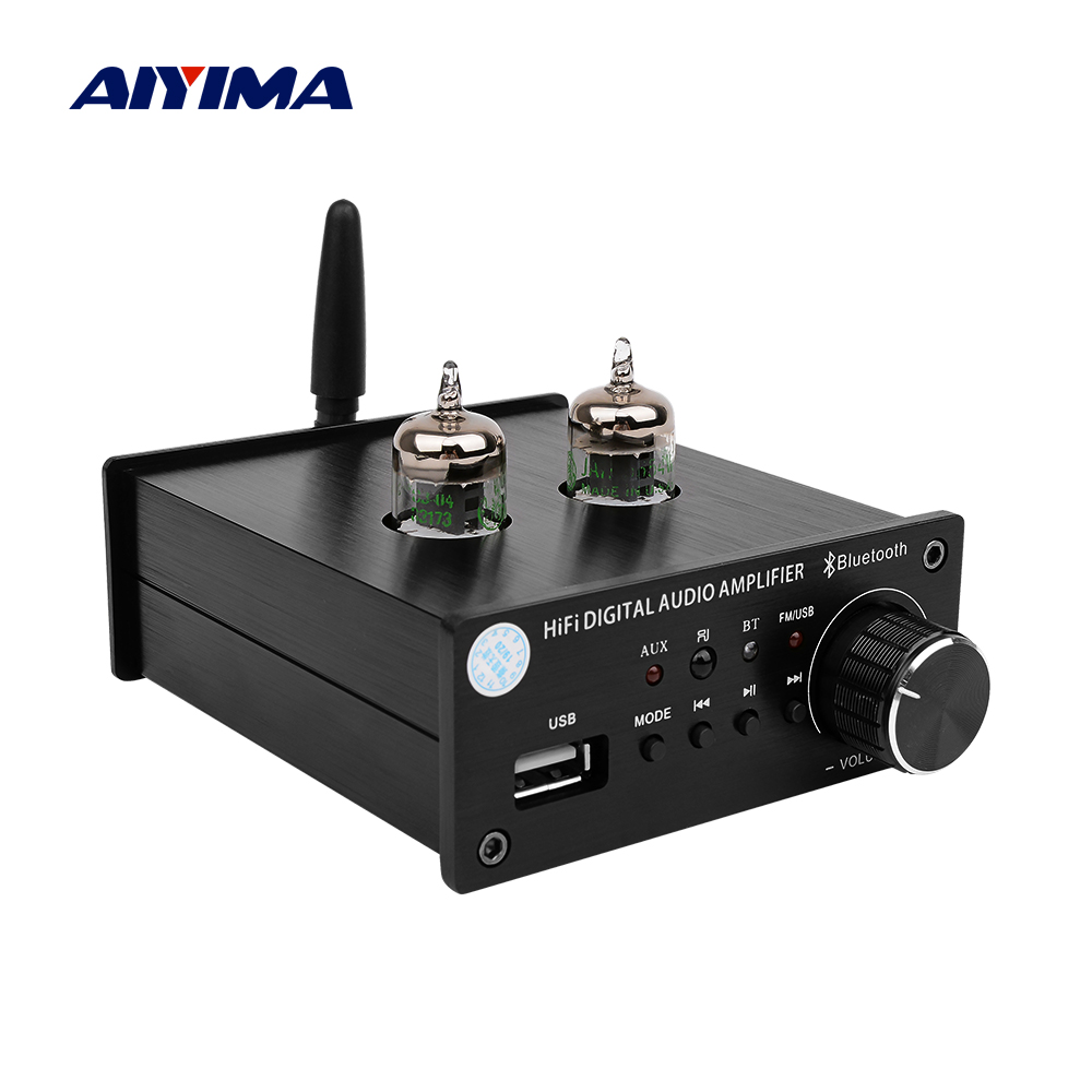 AIYIMA <font><b>Tube</b></font> Amplifier Preamp Board <font><b>Bluetooth</b></font> 4.2 5654 <font><b>Tube</b></font> <font><b>Preamplifier</b></font> Tone Volume Control Treble Bass Adjust For MP3 Decoder image