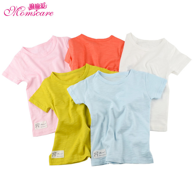 mom's care pure cotton short sleeves baby t shirt infant boys girls