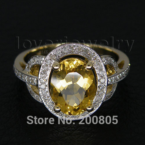 Vintage Oval 7x9mm Solid 14kt Yellow Gold Diamond Citrine Ring For Sale R2004 new vintage 14kt rose gold diamond kunzite ring wedding ring oval 10x17mm r00324