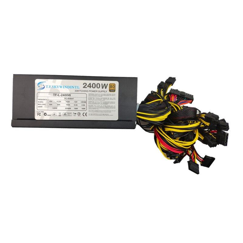 T. f. SKYWINDINTL 2000 W PC fuente de alimentación 2000 W ATX 12 V ETH moneda minería minero alimentación PFC PSU apoyo 8 GPU Max 2400 W
