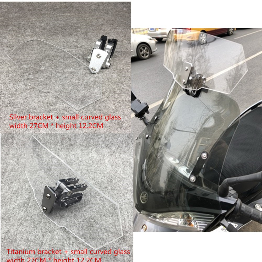 universal motorcycle windshield DIY windscreen extension adjustable for Triumph trophy se 1200 T120 T100 Tiger 800 XR Лобовое стекло