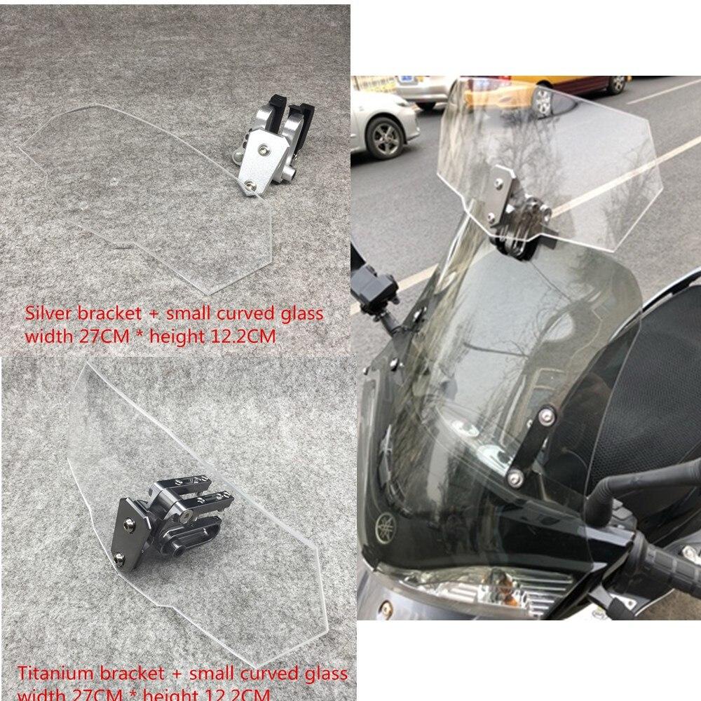 Universel moto pare-brise pare-brise de BRICOLAGE extension réglable pour Triumph trophy se 1200 T120 T100 Tigre 800 XR