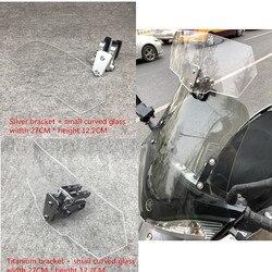 Uniwersalny motocykl szyby DIY szyby rozszerzenie regulowany dla Triumph trofeum se 1200 T120 T100 Tiger 800 XR