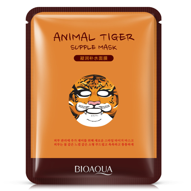Skin Care Popular Brand Hanchan 1 Pcs Cute Animal Sheep/dog/panda/tiger Facial Mask Hyaluronic Acid Moisturizing Oil-control Korea Mask Face Care High Resilience