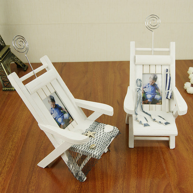 Hot Business Card Holder Small Chair DIY Creative Mediterranean ...