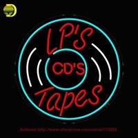 Lps Cds Tapes Outdoor Neon Sign Neon Bulb Handcrafted Glass Tube Affiche Light Outdoor Neon Business