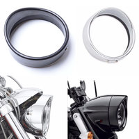 5.75 inch Headlamp Visor for harley sportster 883 Headlamp Trim Ring for Harley Parts 5 3/4 Led Headlight Sports