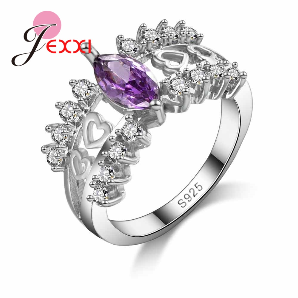 JEXXI Wholesale 925 Sterling Silver Bridal Wedding Rings